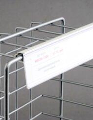 Porta Etiquetas para Estantes e Cestos em Arame