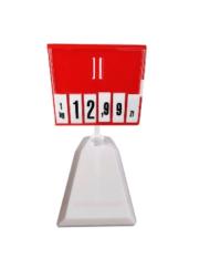 Cassete Porta Preço com Dígitos e Base