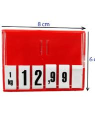 Cassete Porta Preço com Dígitos